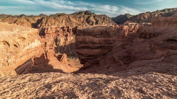 Cover Image for Shadow Play In Charyn Grand Canyon At Sunset
