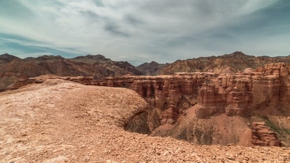 Thumbnail for Charyn Grand Canyon At Blue Sky In Kazakhstan