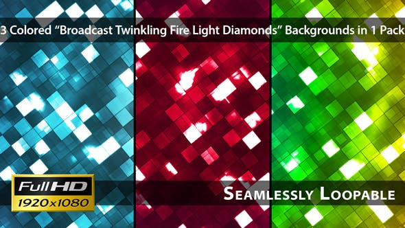 Thumbnail for Broadcast Twinkling Fire Light Diamonds - Pack 02
