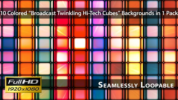 Thumbnail for Broadcast Twinkling Hi-Tech Cubes - Pack 01