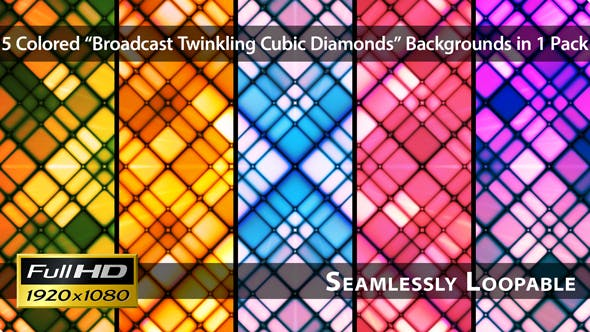 Thumbnail for Broadcast Twinkling Cubic Diamonds - Pack 01