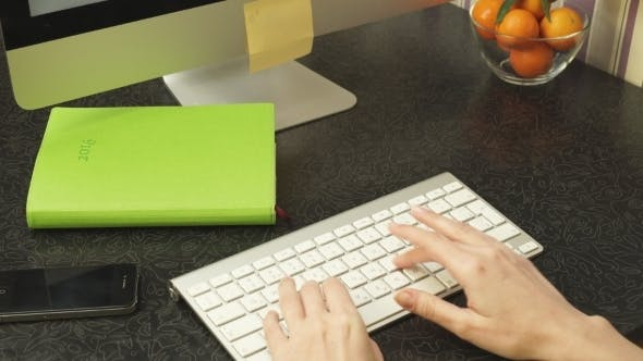 Thumbnail for Female Hands Fast Typing On The Keyboard
