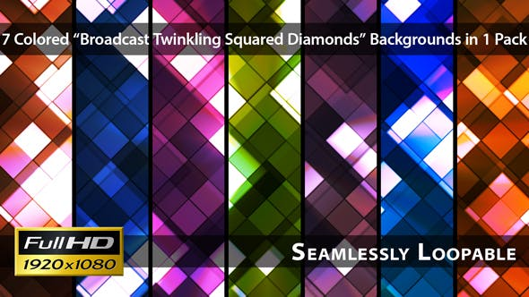 Thumbnail for Broadcast Twinkling Squared Diamonds - Pack 01