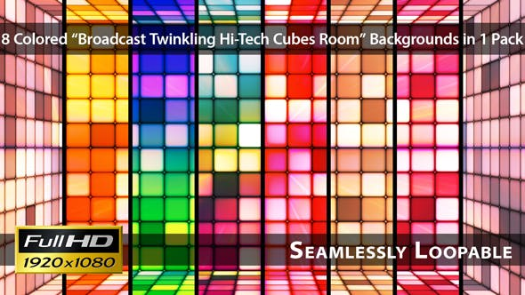 Thumbnail for Rundfunkelnde Hi-Tech Cubes Zimmer - Pack 02