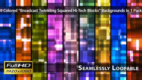 Broadcast Twinkling Squared Hi-Tech Blocks - Pack 01
