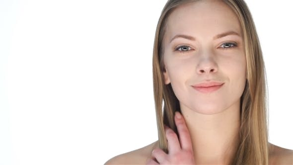 Thumbnail for Young Blond Woman With Clean Face