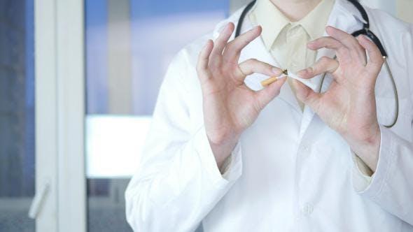 Thumbnail for Doctor Breaking Cigarette