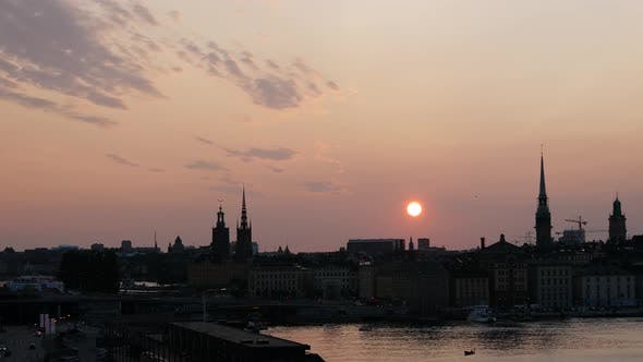 Thumbnail for Sunset time lapse from Gamla stan