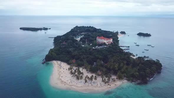 Thumbnail for Drone Shoot Of Island In Dominican Republic The Bacardi Island In 60 Fps 2