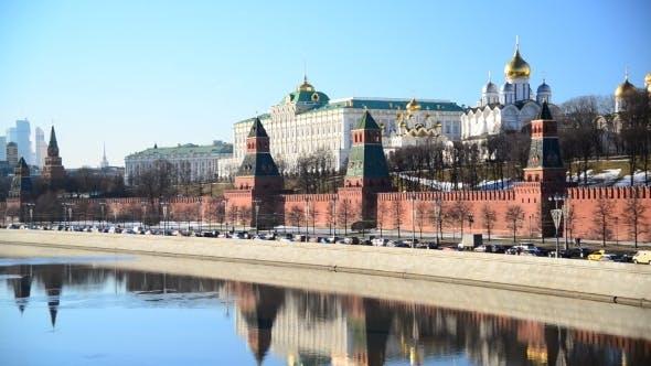 Thumbnail for blick auf moskau kreml vom fluss, russland