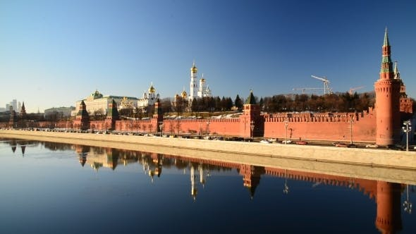 Thumbnail for View Of  Moscow Kremlin From  River, Russia