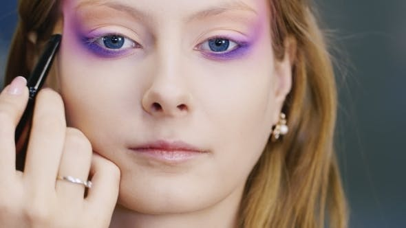 Thumbnail for Beautiful Young Woman Applied Make-up