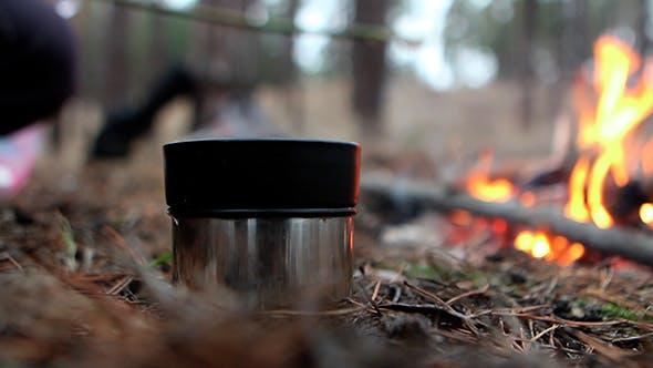 Thumbnail for Heißer Tee auf der Natur