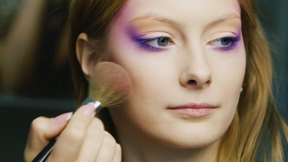 Thumbnail for Beautiful Woman Applied Make-up Brush