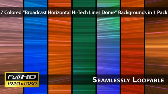 Thumbnail for Broadcast Horizontal Hallo-Tech Linien Dome - Pack 02