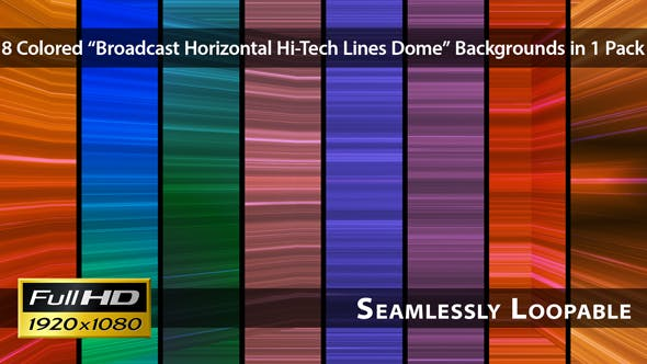 Thumbnail for Broadcast Horizontal Hi-Tech Lines Dome - Pack 03