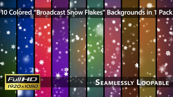 Thumbnail for Broadcast Snow Flakes - Pack 01