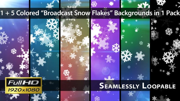 Thumbnail for Broadcast Snow Flakes - Pack 02