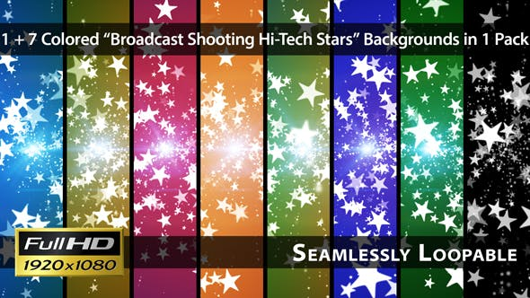 Thumbnail for Broadcast Shooting Hi-Tech Stars - Pack 01