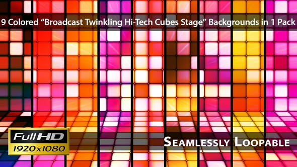 Thumbnail for Broadcast Twinkling Hi-Tech Cubes Stage - Pack 01