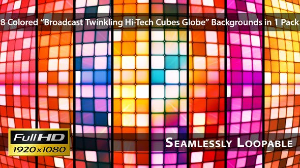 Thumbnail for Rundfunkelnde Hi-Tech Cubes Globe - Pack 01