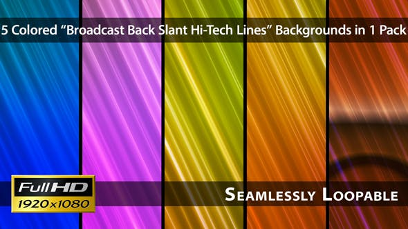 Broadcast Back Slant Hallo-Tech Linien - Pack 02