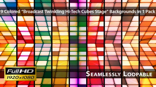 Thumbnail for Broadcast Twinkling Hi-Tech Cubes Stage - Pack 03