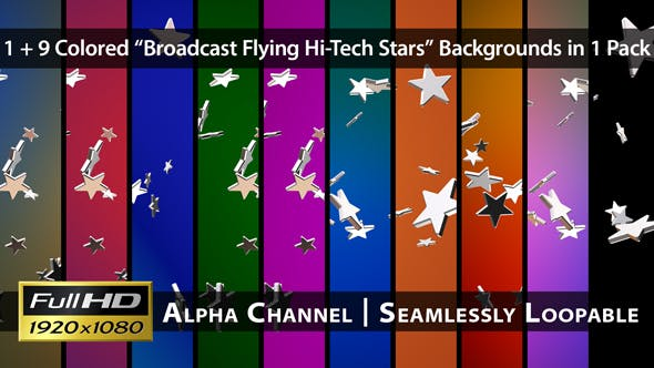 Thumbnail for Broadcast Flying Hi-Tech Stars - Pack 02