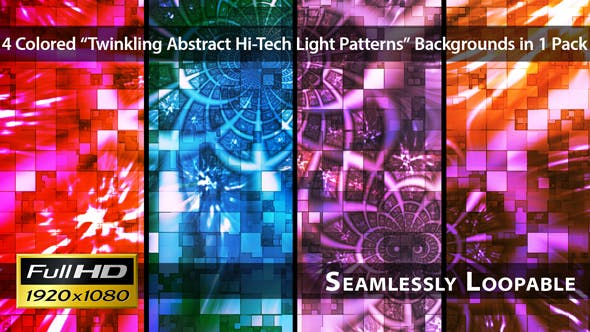 Thumbnail for Twinkling Abstrakte Hi-Tech Light Patterns - Pack 01