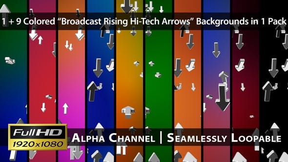 Thumbnail for Broadcast Rising Hi-Tech Arrows - Pack 01