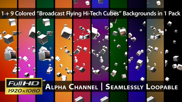 Thumbnail for Broadcast Flying Hi-Tech Cubes - Pack 02