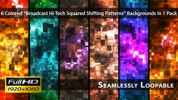 Thumbnail for Broadcast Hi-Tech Squared Shifting Patterns - Pack 01