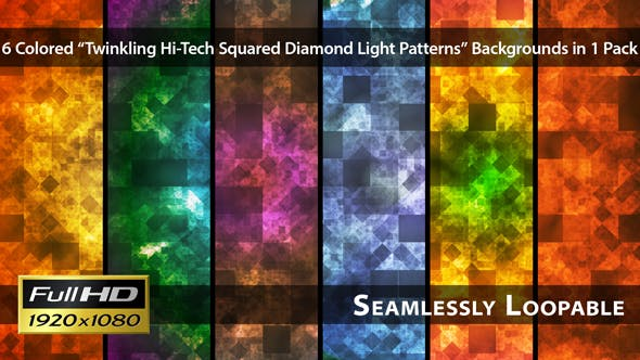 Thumbnail for Twinkling Hi-Tech Squared Diamond Light Patterns - Pack 01