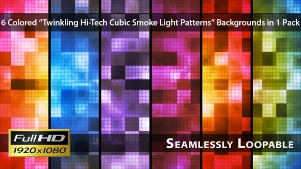 Thumbnail for Twinkling Hi-Tech Cubic Smoke Light Patterns - Pack 01