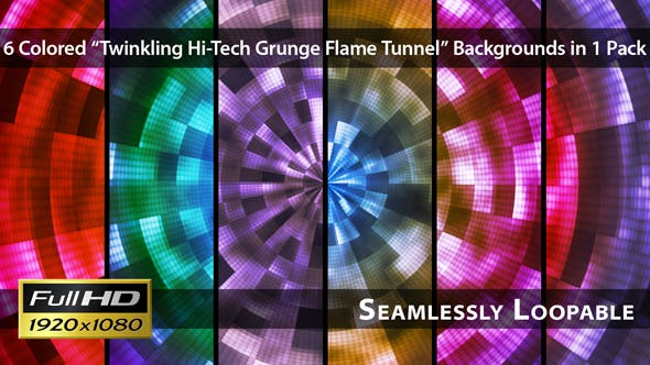 Thumbnail for Twinkling Hi-Tech Grunge Flammentunnel - Pack 02