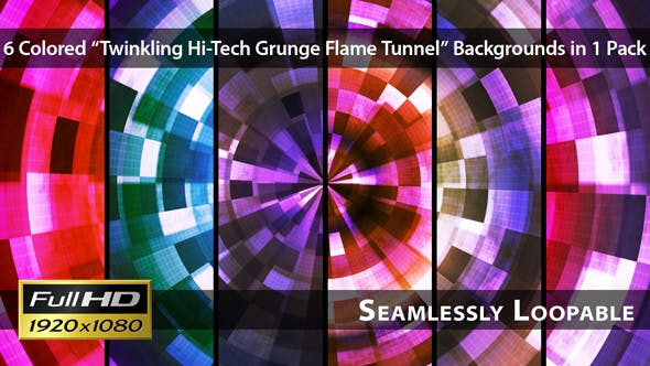 Thumbnail for Twinkling Hi-Tech Grunge Flammentunnel - Pack 03