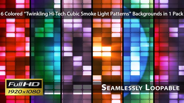 Thumbnail for Twinkling Hi-Tech Cubic Smoke Light Patterns - Pack 02