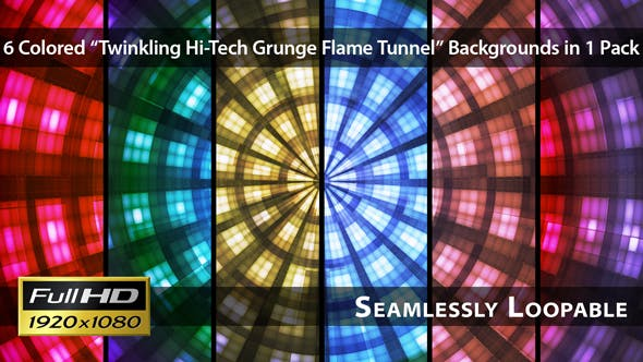 Twinkling Hi-Tech Grunge Flame Tunnel - Pack 04