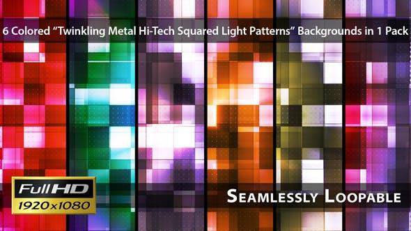 Thumbnail for Twinkling Metal Hi-Tech Squared Light Patterns - Pack 01