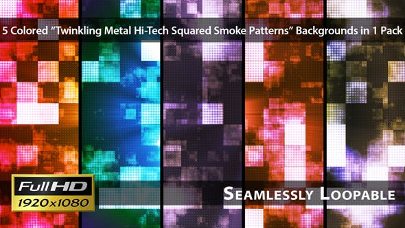 Thumbnail for Twinkling Metal Hi-Tech Squared Smoke Patterns - Pack 01