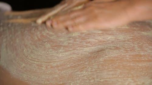 Spa Treatment, Applying Scrub On a Back