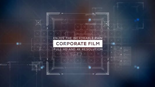 Thumbnail for Corporate Film/ Icons and Text/ 3D Cube and Transitions/ Business and Economic Slide/ Presentation