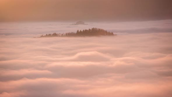 Vivid time-lapse of rolling fog