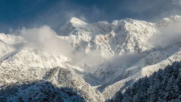 Cover Image for Clouds Opened Peaks Mountain
