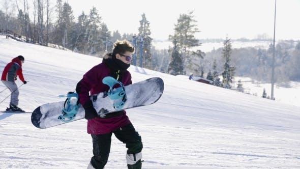 Thumbnail for Young People Hugging And Posing Ski Resort