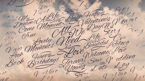Romantische Kalligraphische Titel Hintergrund