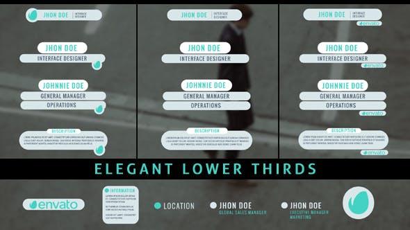 Thumbnail for Elegant Lower Thirds