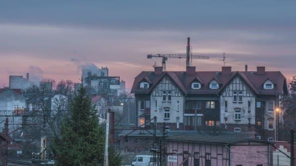 Thumbnail for Wohnhaus Kran arbeitet Fabrik
