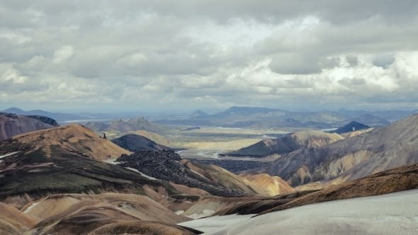 Thumbnail for Mountains And Valley In The National Park Landmannalaugar