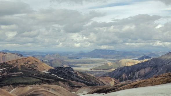 Thumbnail for Mountains And Valley In The National Park Landmannalaugar. Iceland